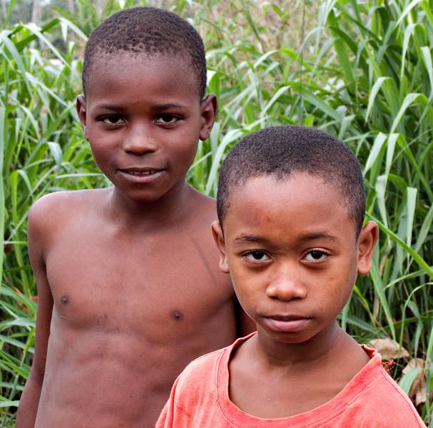 Kids along the coast, Sao Tome
