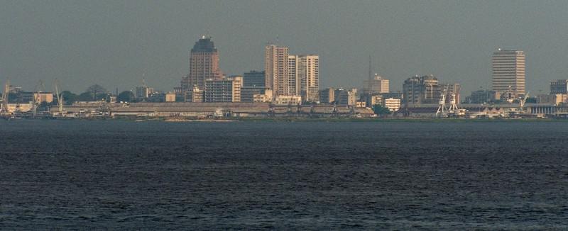 Kinshasa, as seen from Brazzaville across the Congo