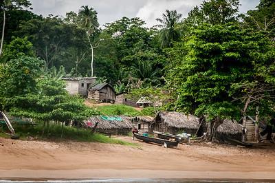 Houses near the beach in Principe, Sao Tome and Principe
