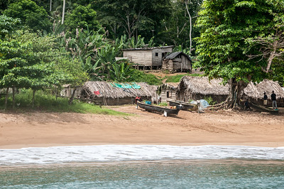 Houses near the beach in Principe, Sao Tome and Principe