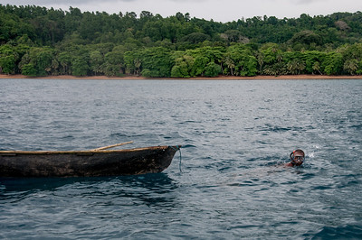 Fishing boat in Principe, Sao Tome and Principe