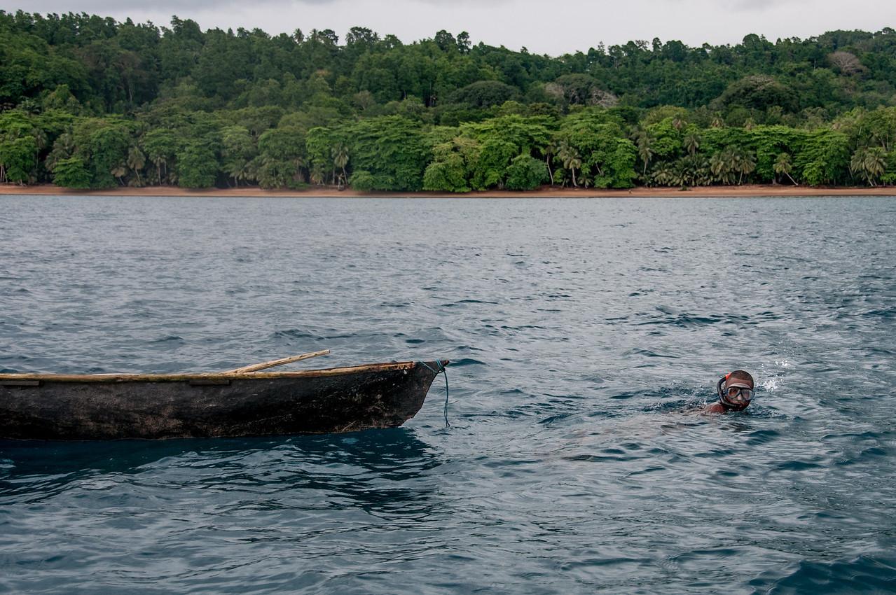 Fishing boat in Principe, Sao Tome and Principe