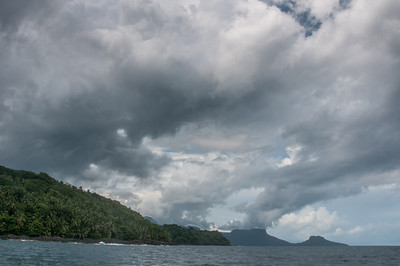 Clouds over the ocean in Principe, Sao Tome and Principe