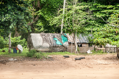 Houses near the beach in Sao Tome, Sao Tome and Principe