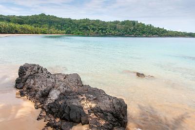 Beach scenery in Principe, Sao Tome and Principe