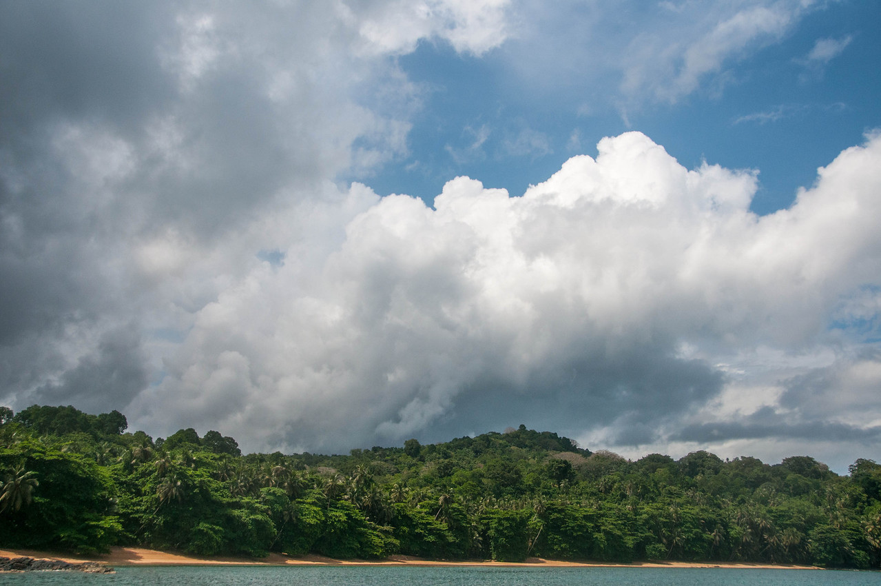 Beach scenery in Principe, Sao Tome and Principe