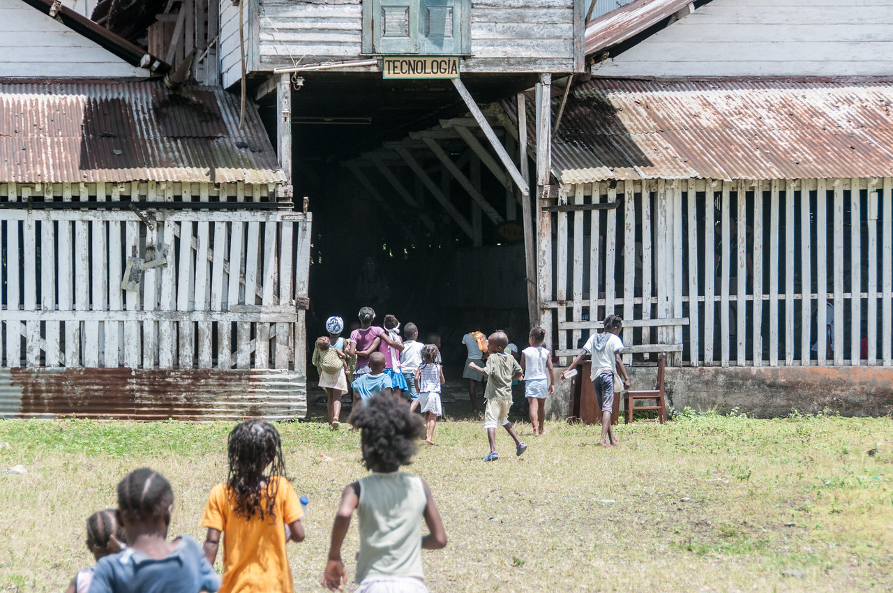 Children playing in Sao Tome, Sao Tome and Principe