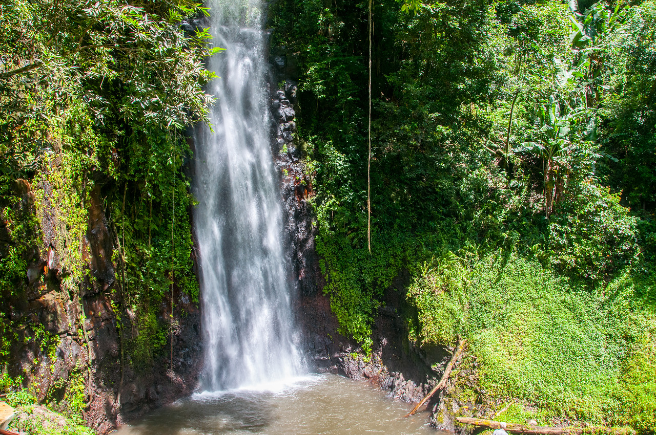 St. Nicholas waterfall in Sao Tome, Sao Tome and Principe