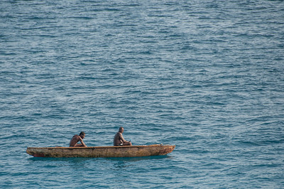 Men on boat at Sao Tome, Sao Tome and Principe