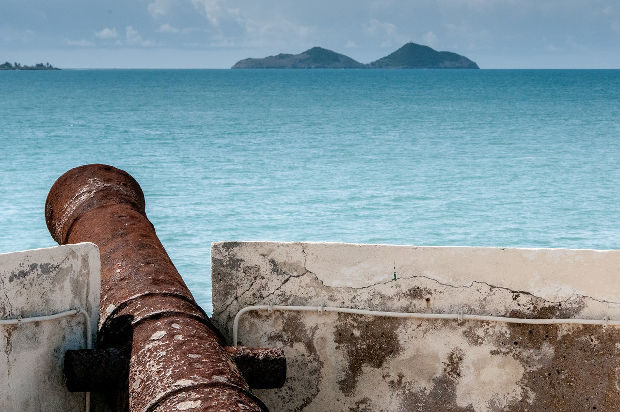 Cannon in San Sebastian Fort in Sao Tome, Sao Tome and Principe