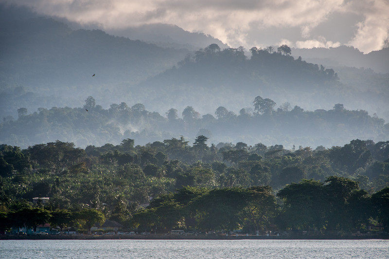 View of the mountains at Sao Tome, Sao Tome and Principe
