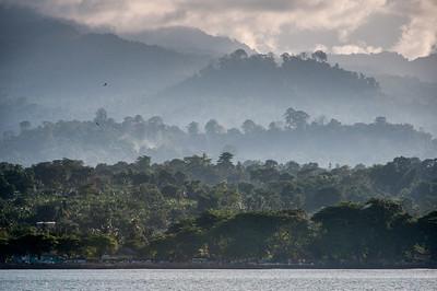 View of the mountains at Sao Tome, Sao Tome and Principe