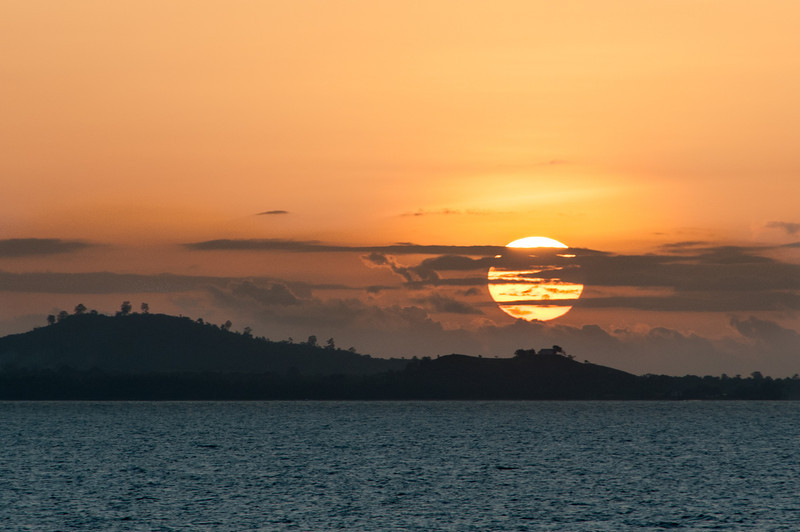 Sunset in Sao Tome, Sao Tome and Principe