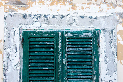 Colorful window in Sao Tome, Sao Tome and Principe