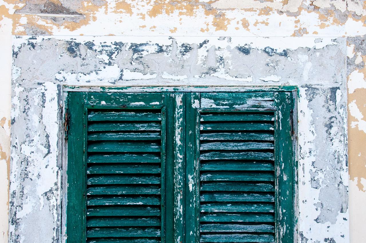 Colorful window in Sao Tome, Sao Tome and Principe