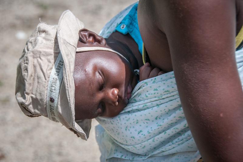 Child sleeping in Sao Tome, Sao Tome and Principe