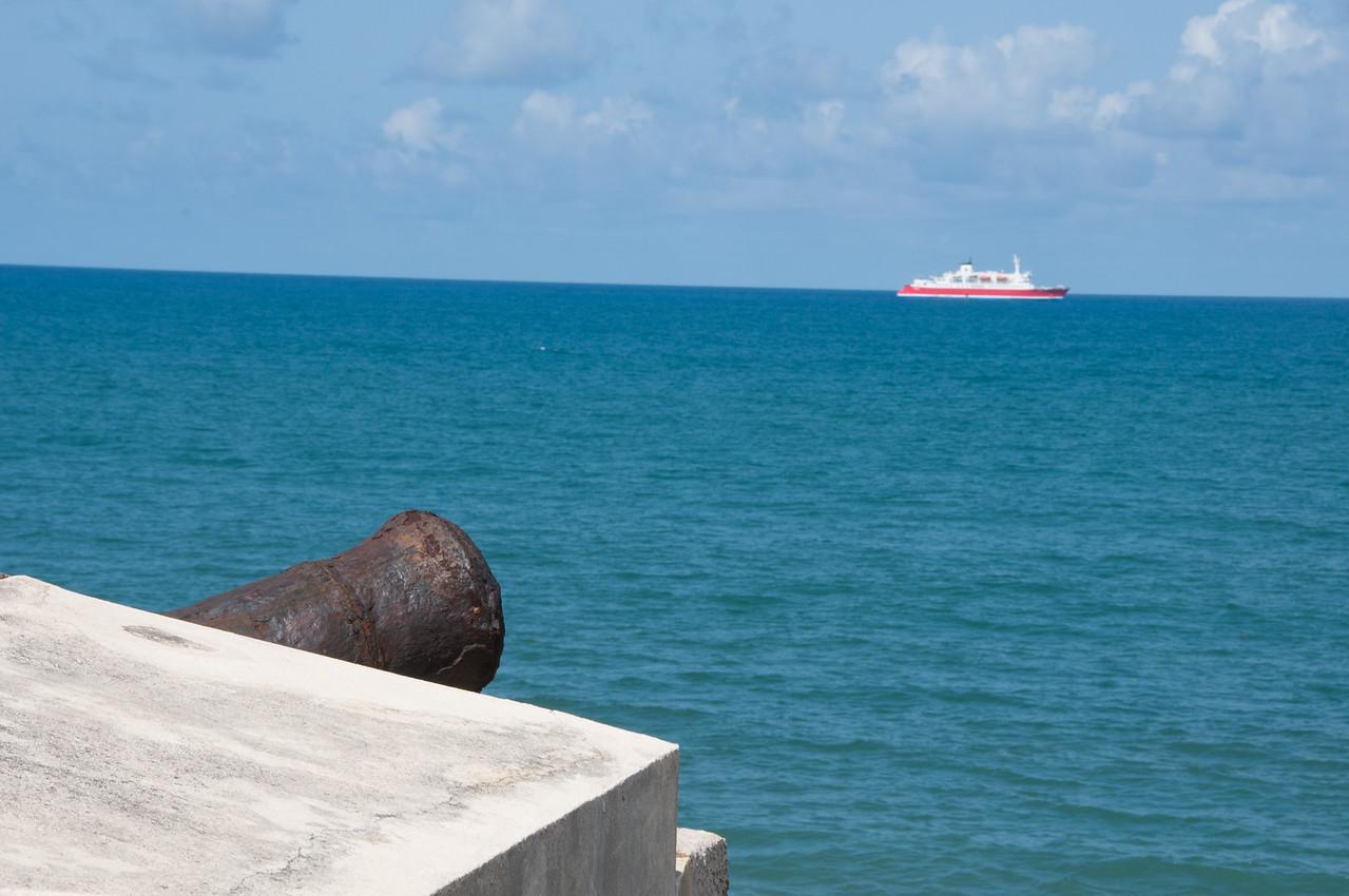 Cannon in San Sebastian Fort at Sao Tome, Sao Tome and Principe