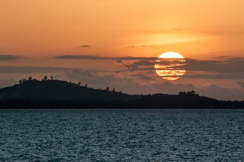 Sunset in Sao Tome, Sao Tome and Principe