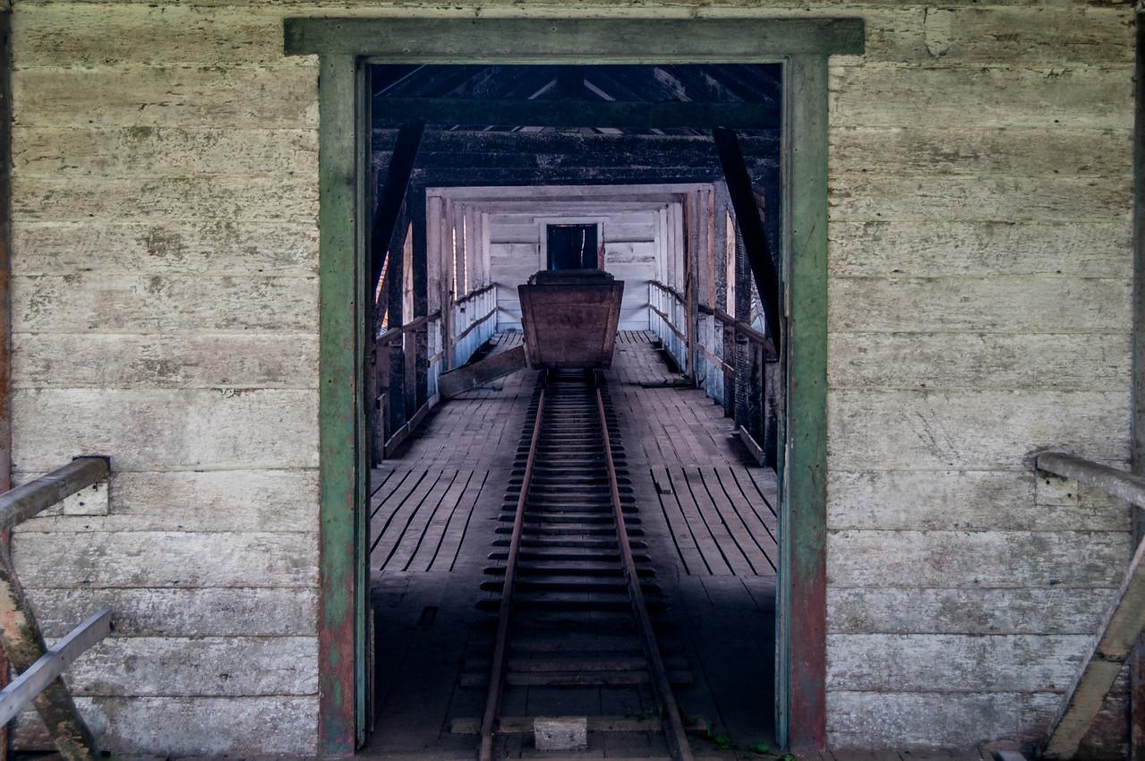 Old mine station in Sao Tome, Sao Tome and Principe