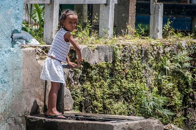 Child playing in Sao Tome, Sao Tome and Principe