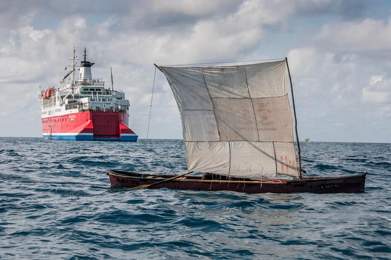 Improvised sailboat in Sao Tome, Sao Tome and Principe