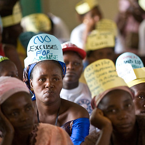 Liberian woman united against rape and violence