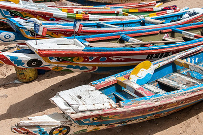 Fishing boats in Dakar, Senegal