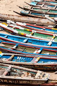Fishing boats in Dakar, Senegal