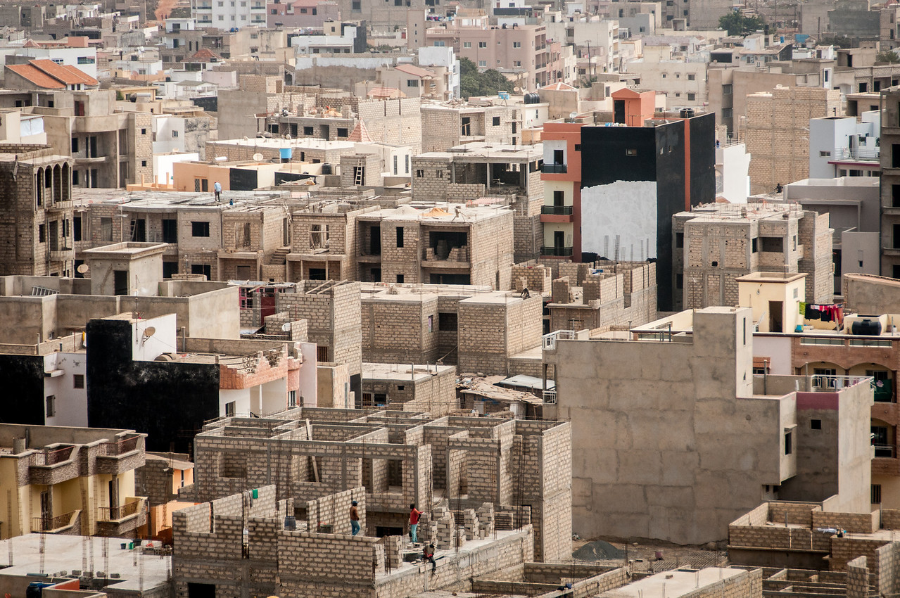 Buildings in Dakar, Senegal