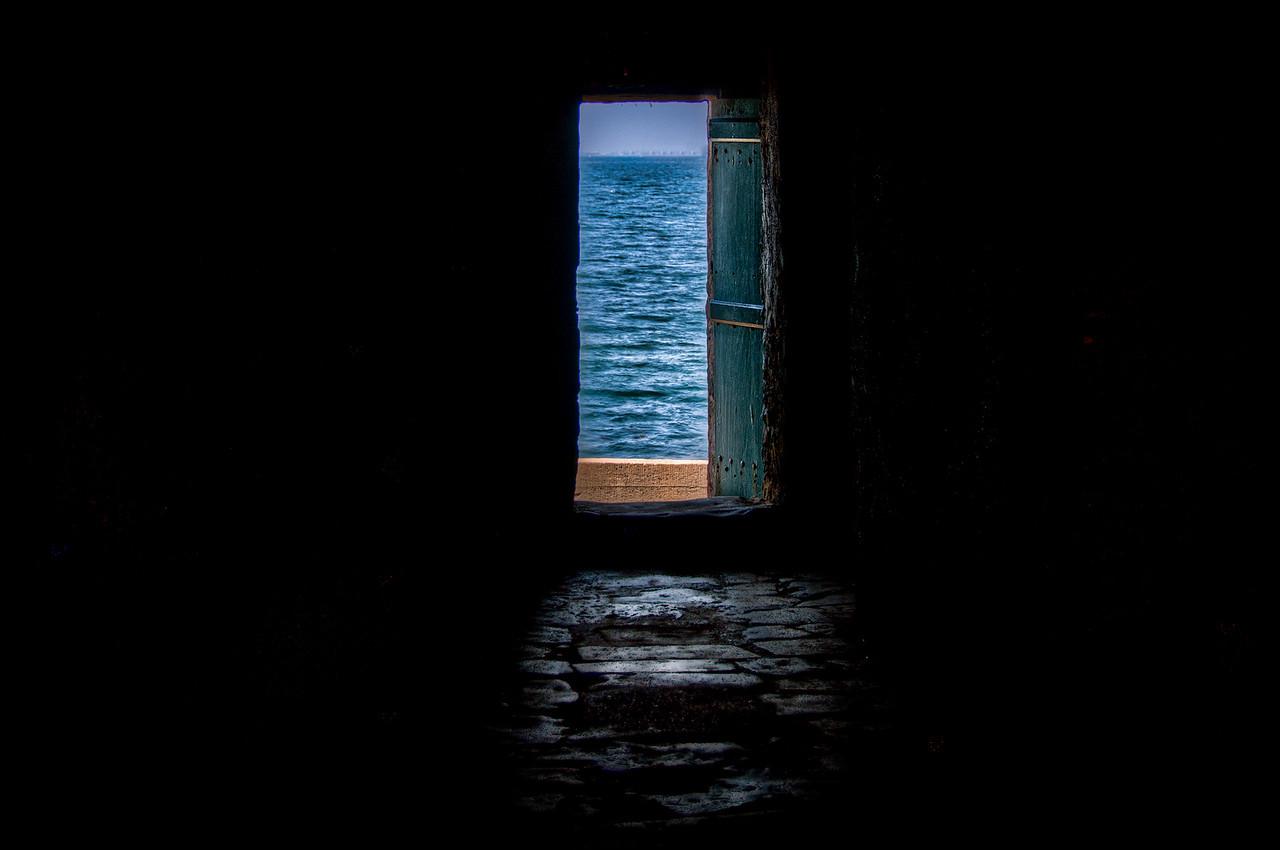 Open door in Dakar, Senegal