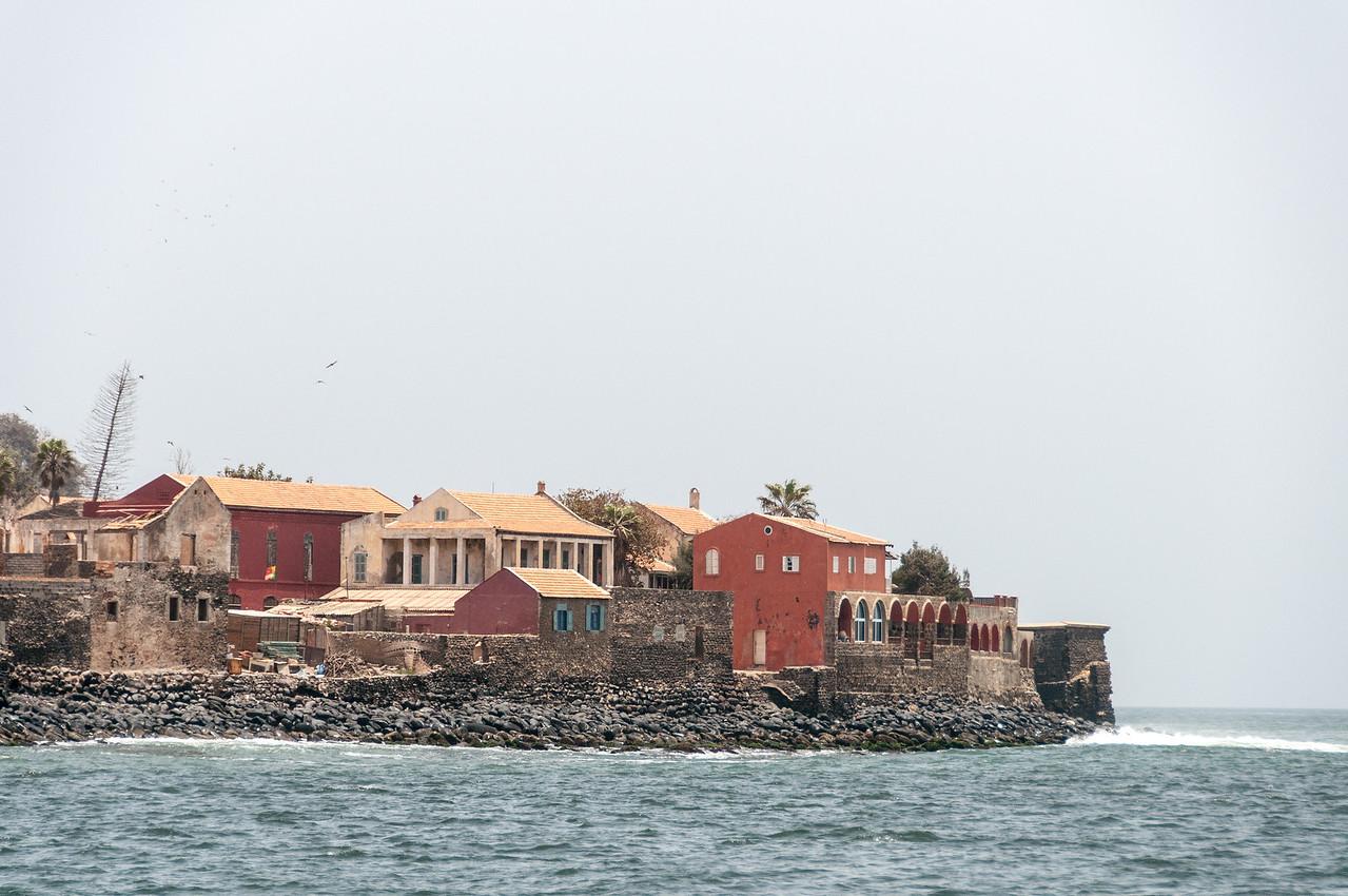 Buildings facing Dakar harbour in Senegal