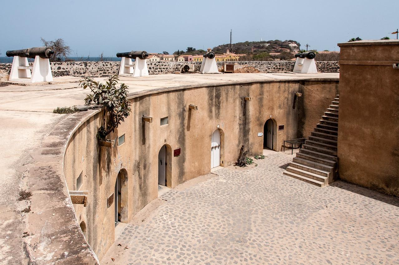Inside Fort D'Estrees in Dakar, Senegal
