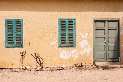 Colorful building in Goree Island, Dakar, Senegal