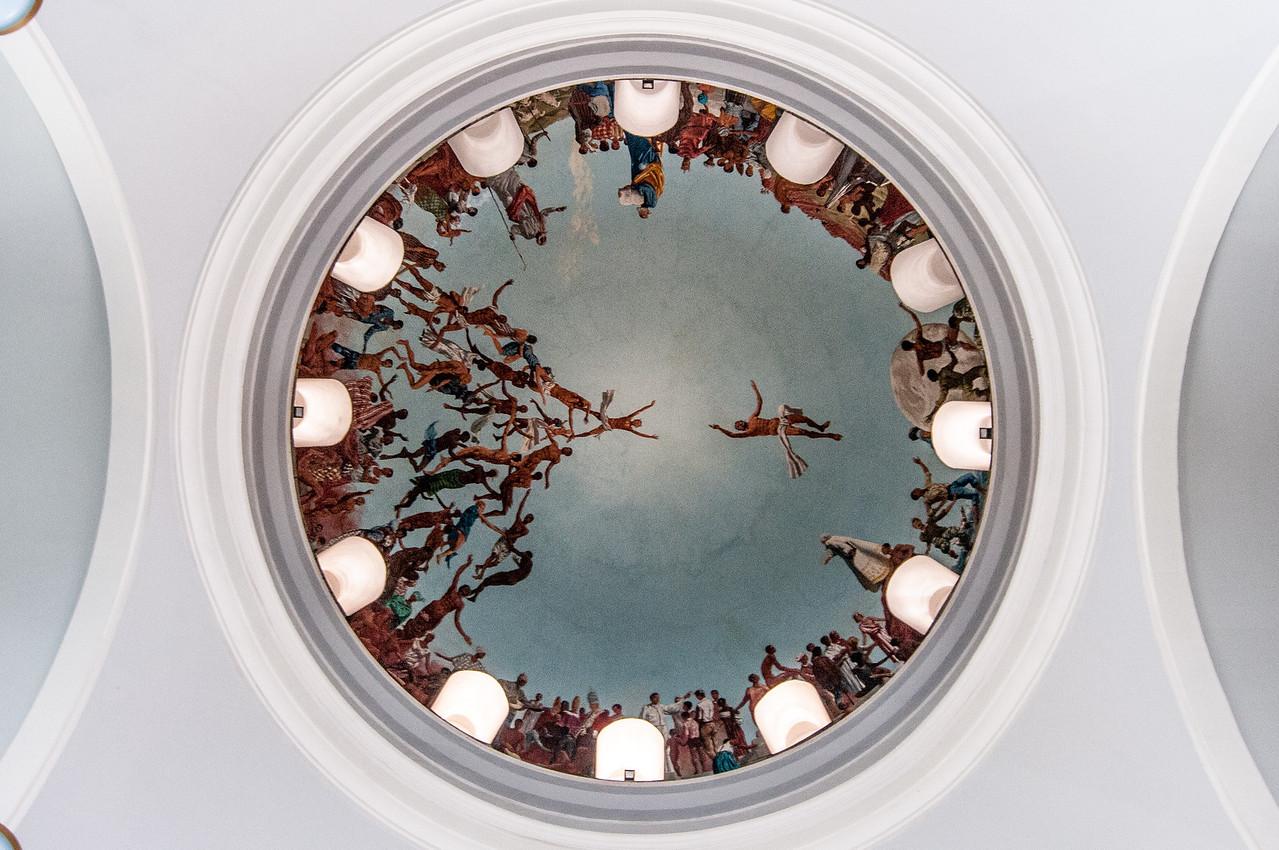 The dome inside Dakar Cathedral in Dakar, Senegal