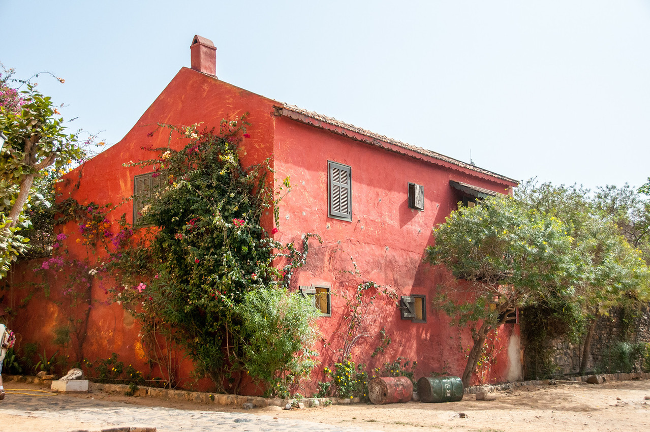 Old builing in Goree Island, Dakar, Senegal