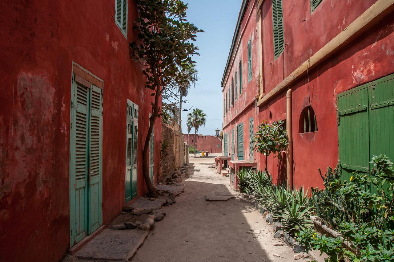 Street scene in Goree Island, Dakar, Senegal