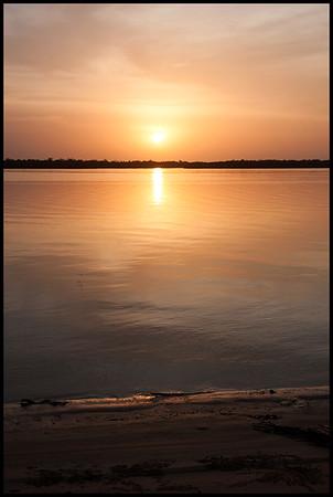 Sunset at the Campement Villageois d'Elinkine