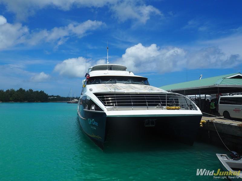 high speed ferry - best way to get around seychelles