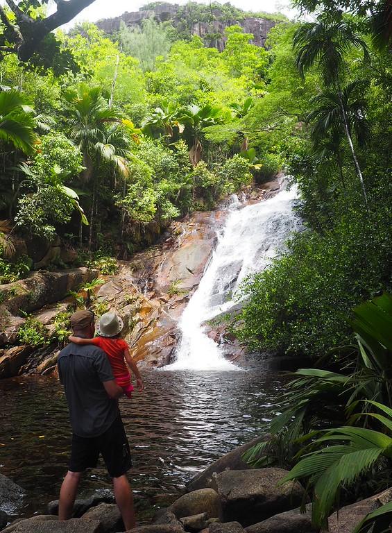 hiking to port glaud waterfall mahe seychelles
