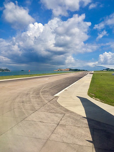 Mahe Airport in the Seychelles