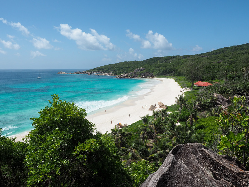 Above Grand Anse on La Digue in the Seychelles