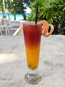 Cocktail in the Seychelles