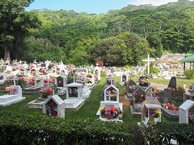 Cemetery in the Seychelles