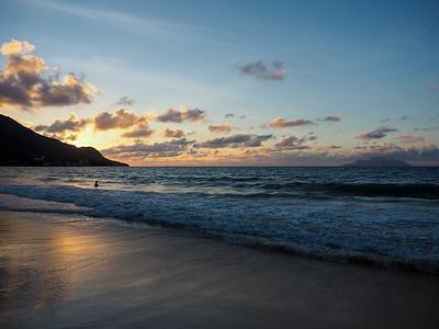 Beau Vallon Beach at sunset