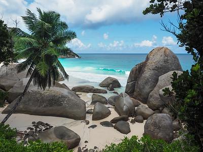 Hidden beach on Mahe