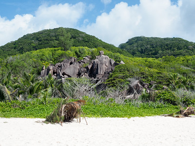 La Digue Island in the Seychelles