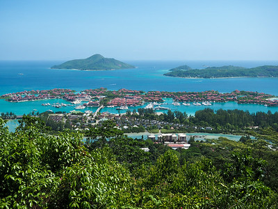 Eden Island from Mahe in the Seychelles