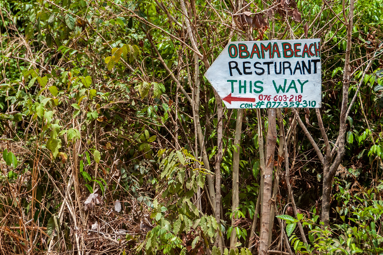Business sign in Freetown, Sierra Leone