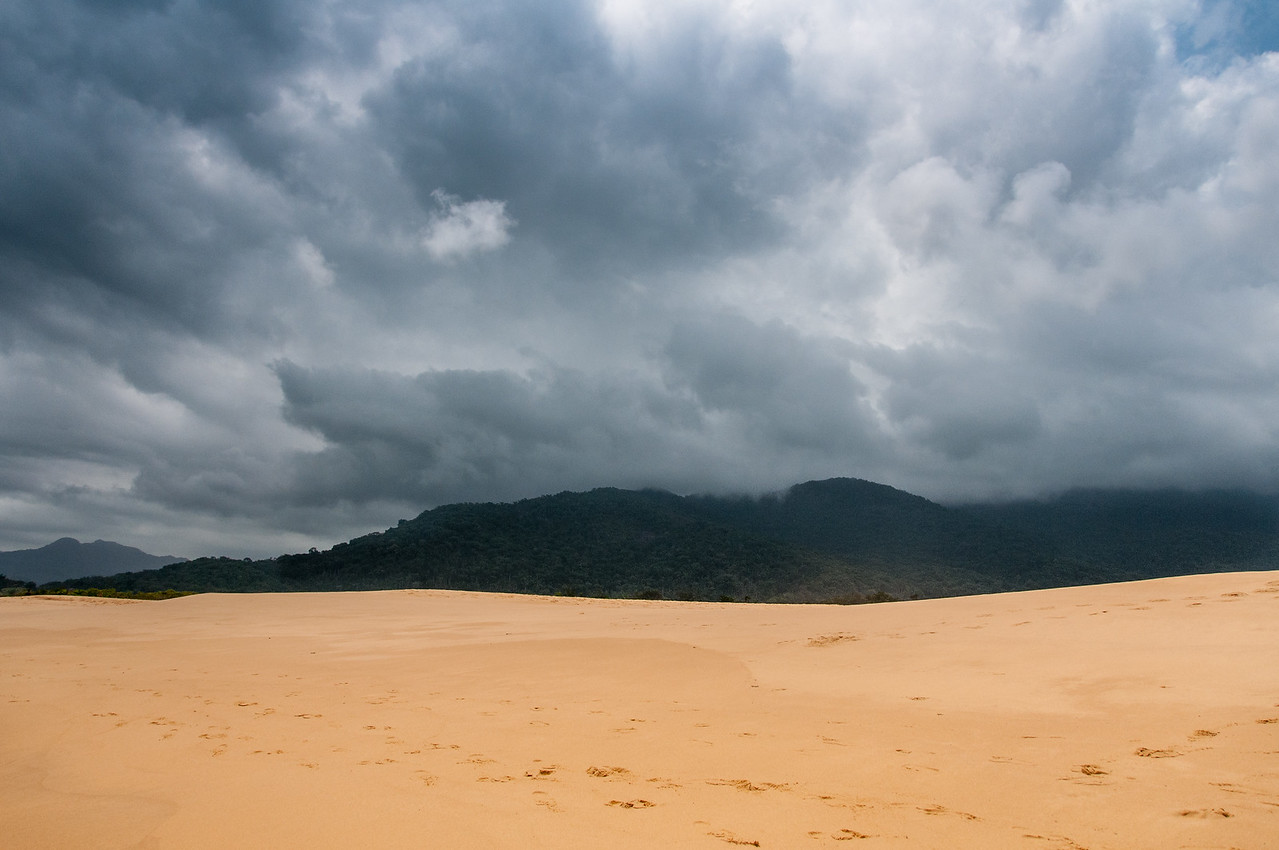 Pink sand beach in Freetown, Sierra Leone