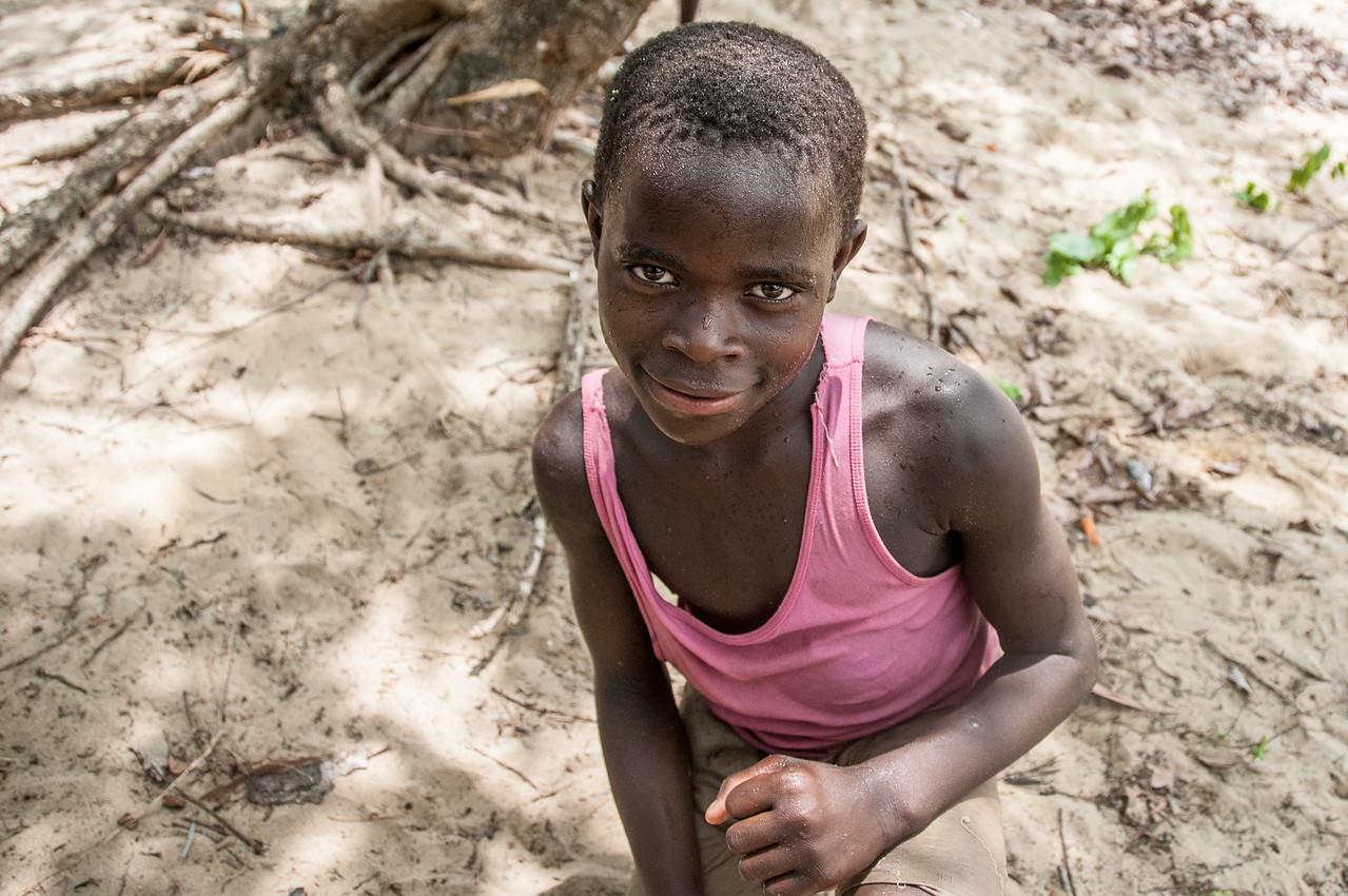 Kid on the beach in Freetown, Sierra Leone